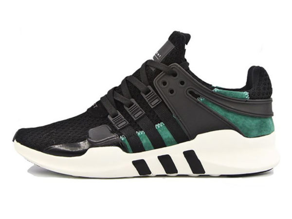Adidas EQT Running Support 93 черные с зеленым