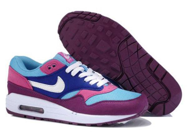 Кроссовки Nike Air Max 87 женские малиновые с голубым