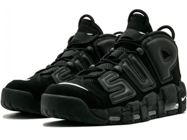 Nike Air More Uptempo X Supreme черные