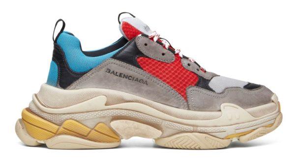Голубые кроссовки Balenciaga