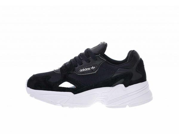 Кроссовки Adidas Falcon черно-белые (35-39)
