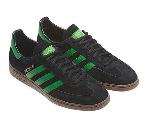 Adidas Spezial черные с зеленым мужские