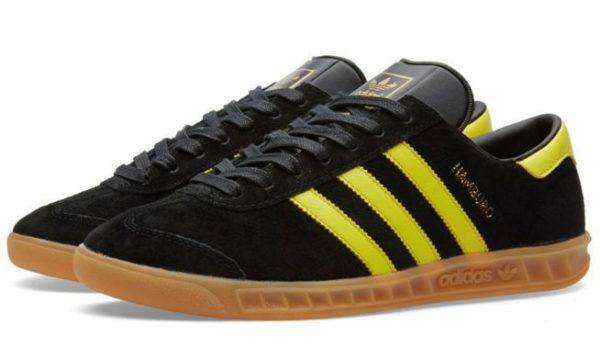 Adidas Hamburg черные с желтым (39-44)