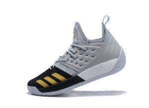 Adidas Harden Vol.2 серые с черным и золотым (40-45)