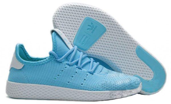 Adidas x Pharrell Williams Tennis Hu голубые с белым (35-39)