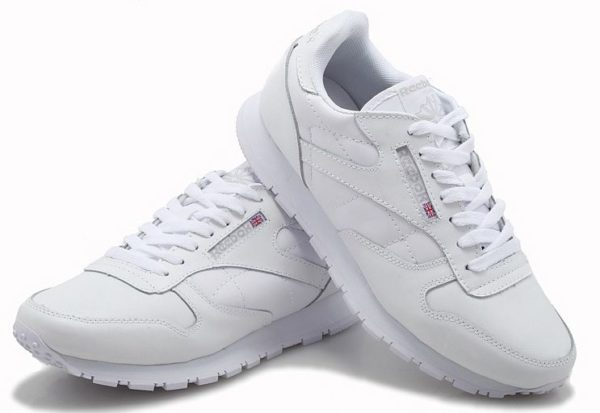 Reebok Classic Leather (White) белый (35-44)