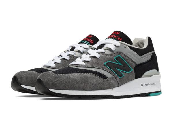 Кроссовки New Balance 997 черно-серые (39-44)