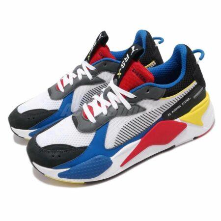 Разноцветные кожаные кроссовки