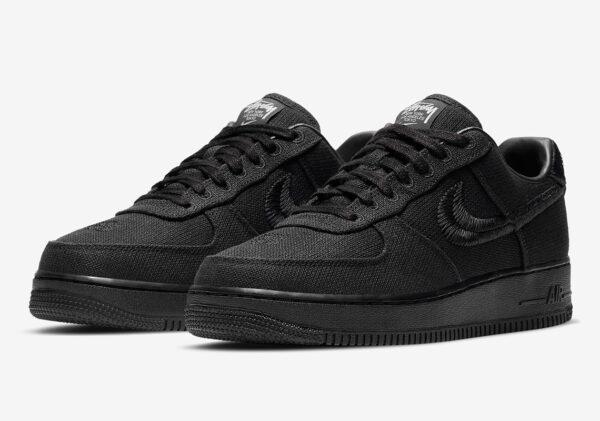 Stussy x Nike Air Force 1 Low черные мужские (40-44)